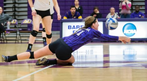 AU Volleyball beats Malone in three sets